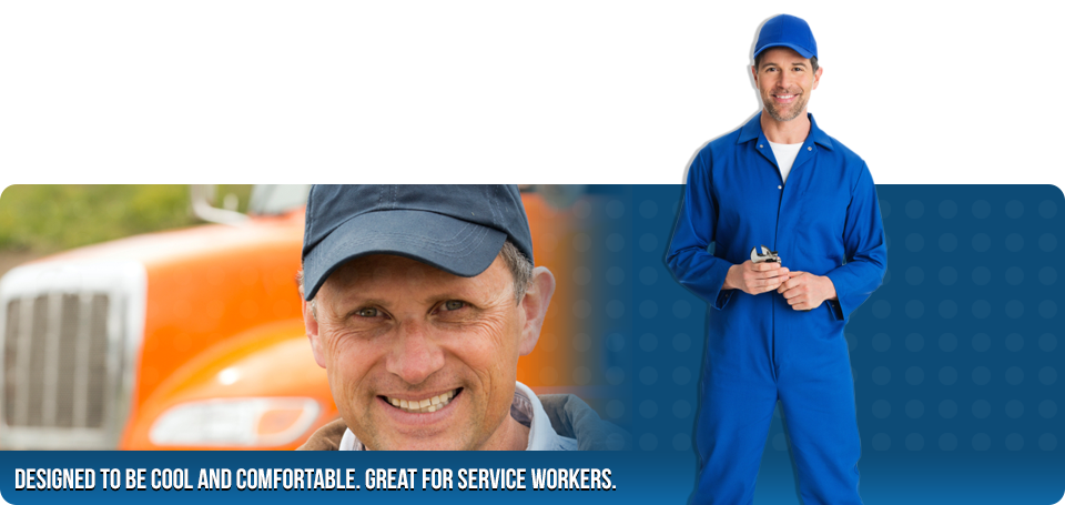 Designed to be cool and comfortable. Great for service workers.